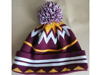 TERRACE ORIGINALS BOBBLE HAT - Winter Ski Knitted Woolly Hat in Bradford City Colours
