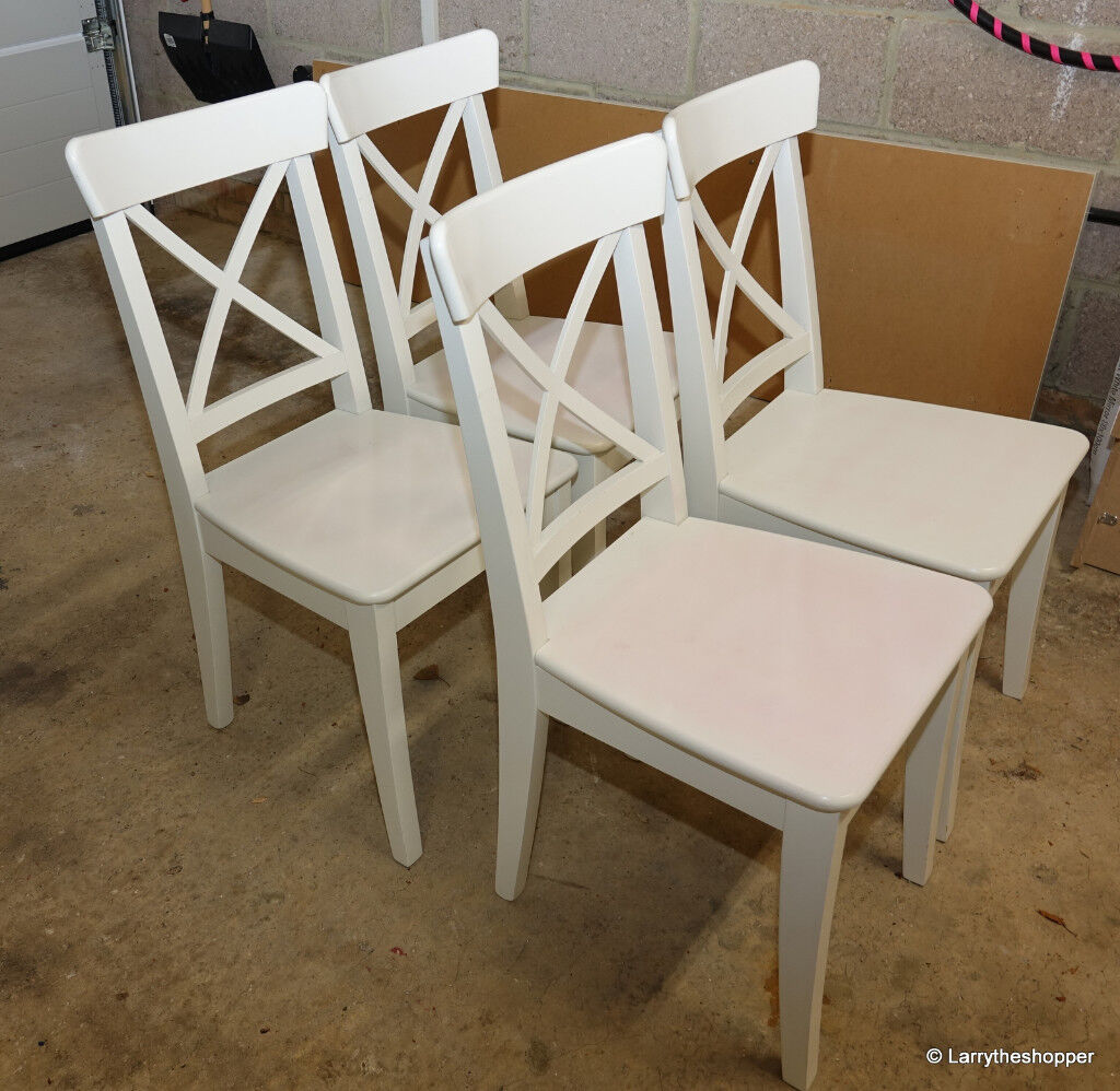 4 X Ikea Ingolf White Dining Kitchen Chairs Matching Drop Leaf Table Available Too In Crowthorne Berkshire Gumtree