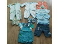 Baby boys summer clothing bundle - Newborn
