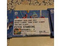2 x summertime ball tickets pitch standing