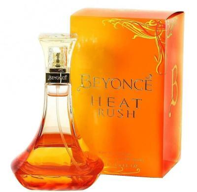 BEYONCE HEAT RUSH for Women 3.4 / 3.3 oz edt Spray Brand New in BOX
