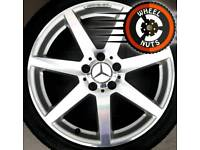 """18"""" Genuine AMG Mercedes C Class staggered alloys good cond matching tyres."""