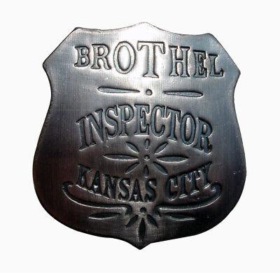 vintage obsolete 1900's western BROTHEL INSPECTOR POLICE officer sheriff BADGE