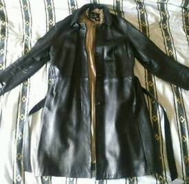 Womans Full Leather Coat