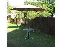Large Parasol 2.7 meter diameter Santiago garden picnic comes with box FREE DELIVERY WITHIN LE3