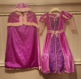 Disney store Rapunzel dress & cloak