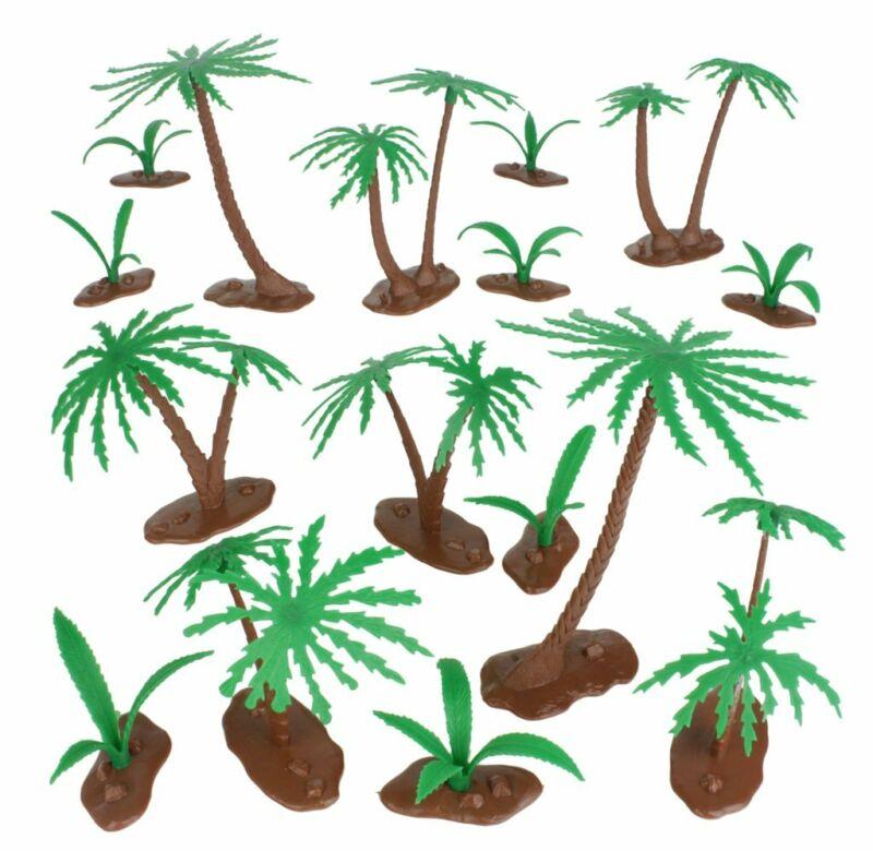 BMC Classic Marx Palm Trees and Ferns (Bushes) - 16 Piece Set