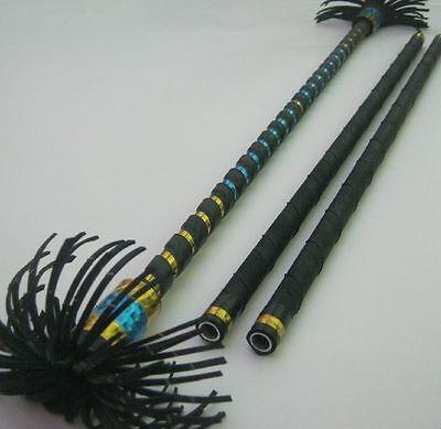 Alu Flowerstick gold/hellblau Devilstick Flower Devil Stick Sticks Jonglierstäbe