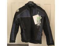 Frank Thomas XTi black/blue waterproof motorcycle jacket - MEDIUM - NEW WITH TAGS