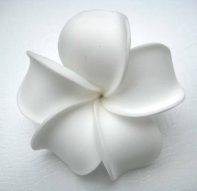 Hawaiian Hawaii Bridal Wedding Party Favor Flower Plumeria QTY ( 2 ) Hair - Hawaiian Hair Clips