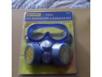 Mask and Goggles set for doing Building work. Brand New.