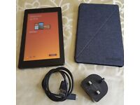Amazon Fire 7 Tablet with Alexa, 16 GB (advert-free version) with case