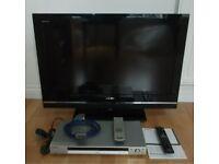 "32"" TV Sony Bravia KDL-32V550 + CD/DVD Player + SCART"