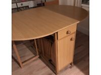 ****SOLD****Oval drop leaf dining table and chairs