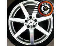 "18"" Genuine AMG Mercedes C Class staggered alloys good cond matching tyres."
