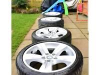 "Genuine BMW 18"" alloys, alloy wheels with tyres"