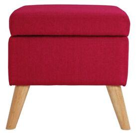 Lexie Storage Footstool - Pink