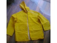 Waterproof jacket and trousers set Yellow (size S)