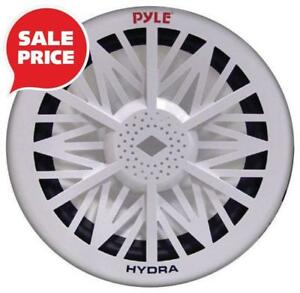 Early Bird Sale - Pyle (PLMRW10) 10 500 Watt White 4 Ohm Marine Audio Subwoofer