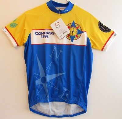 Cycling Jersey Primal Wear Men's Small Compass IPA 3/4 Hidden Zip New with Tags