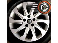"""16"""" Genuine Seat alloys perfect condition with matching Michelin tyres."""