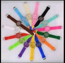 Brand new unisex quartz watch with rubber straps