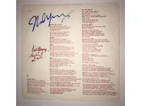 Neil Young Hand Signed Autograph LP Vinyl Sleeve LOA