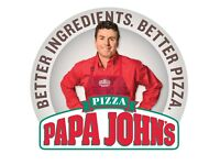 Papa John's Pizza Delivery Driver - Car and Moped Drivers