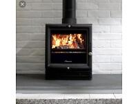 Stove Log burner Worcester bewdley 5 fitted with liner and sign off package