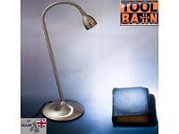 Solari Lloytron LED Flexi Desk Lamp Brushed Chrome Flexible Goose-neck lighting