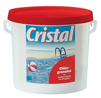 Cristal Chlorgranulat 5 kg Chlor Poolpflege Desinfektion Swimming Pool Reiniger