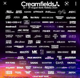 Creamfields 2021 - 4 day standard camping