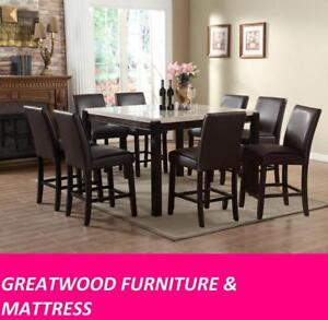 7 piece dining table set for marble lovers for $899