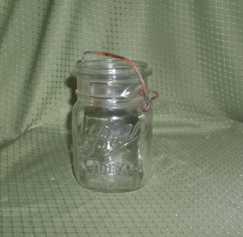 Antique clear Ball Glass Canning Jar