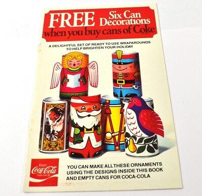 Coca-Cola Coke Bastelbogen Dosen Weihnachtsdeko USA Christmas Six Can Dekoration ()