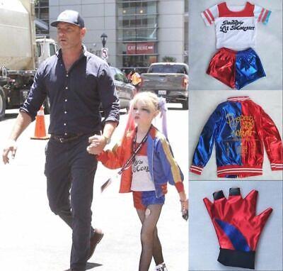 Mädchen Karneval Kostüm* Suicide Squad Harley Quinn Kinder Cosplay Geschenk