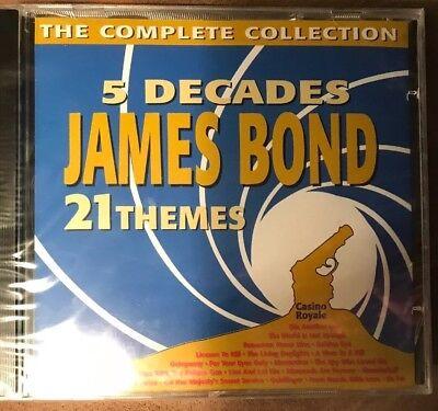 5 Decades James Bond 21 Themes - BRAND NEW CD- 21 - Decade Themes