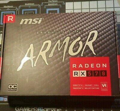 MSI AMD Radeon RX 570 Armor 8GB GDDR5 Graphics Card (RX 570 ARMOR 8G OC)