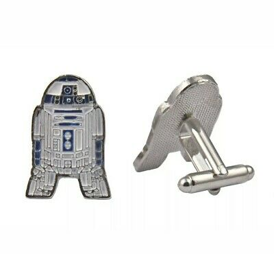 NEW R2D2 Star Wars Cufflinks Set Gift Fans Sci Fi Jedi Han Solo Shirt Cuffs 🇬🇧