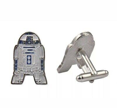 NEW R2D2 Star Wars Cufflinks Set Gift Fans Sci Fi Jedi Han Solo Shirt Cuffs 🇬🇧