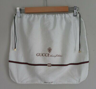 "Vintage GUCCI Accessory Collection White Flannel Dust Cover Bag-17"" X 14"""