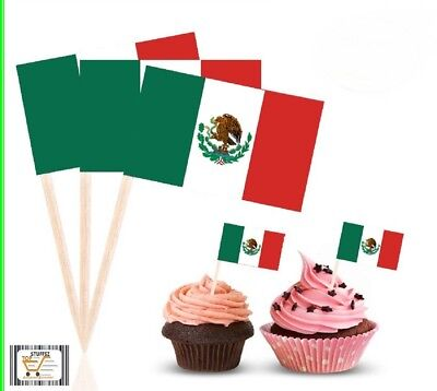 MEXICAN Flag Cupcake Decor Adult Party Favor Supply Birthday Topper TP0310 (Adult Party Decor)