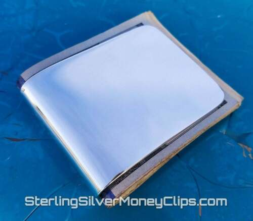 110g Big Wide MADE-TO-ORDER Full Fold Argentium 925 Sterling Silver Money Clip