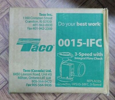 Taco Radiant Heating 3-speed Circulator Pump Heavy Duty Construction Cast Iron