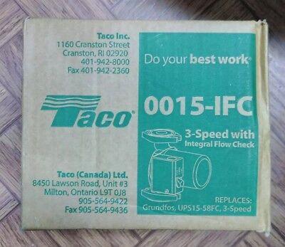 Taco Radiant Heating 3-speed Circulator Pump Heavy Duty Construction Cast Iron