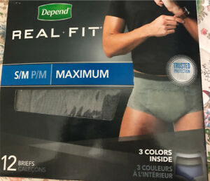 Real Fit Depends - Size S/M