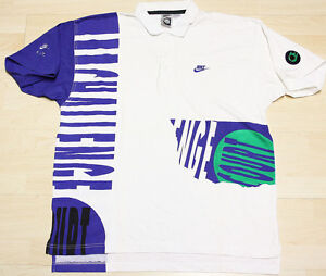 NEW Vintage OG Nike Air Andre Agassi Challenge Court Shirt Tennis SZ XL Sample