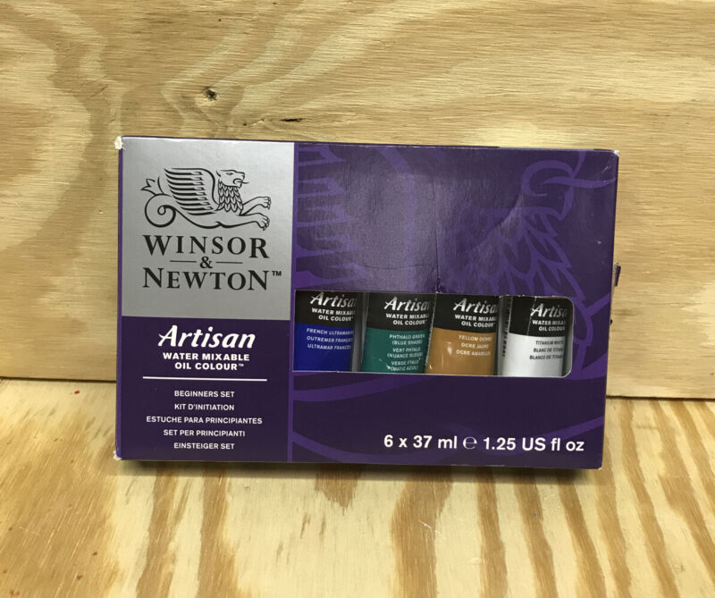 Winsor & Newton Artisan Water Mixable Beginners Oil Color Set 6ct