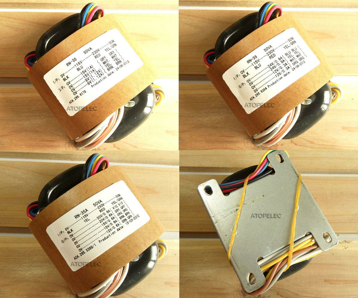 115V/230V 50W R-Core Transformer for Audio Amplifier DAC - Selectable Outputs