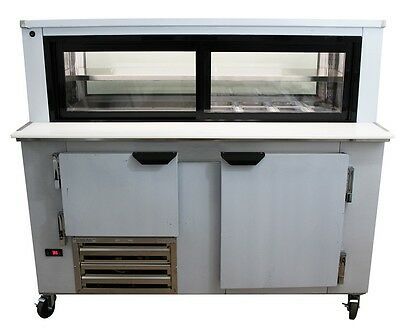 Cooltech 1-12 Door Glass Box Display Refrigerated Sandwich Prep Table 60